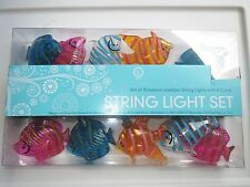 TROPICAL FISH STRING LIGHTS -Party Patio RV Tiki Bar Indoor/Outdoor NEW