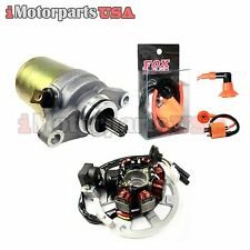 2001-2003 POLARIS SCRAMBLER 90 ATV STATOR STARTER PERFORMANCE IGNITION COIL KIT