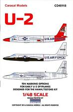 Caracal Decals 1/48 LOCKHEED U-2 SPY PLANE Early U.S. Air Force Versions