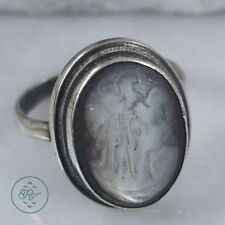 Vintage Sterling Silver - Hand Carved Abalone Cameo 4.1g - Ring (4.75) GX8803