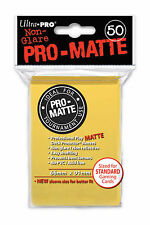 100 Ultra Pro-Matte Yellow Deck Protector Sleeves MTG Magic The Gathering