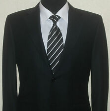 CANALI Italian CHARCOAL WOOL STRPED 2Button SUIT,SIZE 38R W34 L31