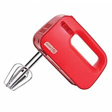 NEW Dash SHM01DSRD Easy Store Smart Hand Mixer Red Beating Blending Whipping