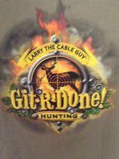 Git R Done Larry The Cable Guy T-Shirt XL Deer Hunting T-Shirt Men's Medium