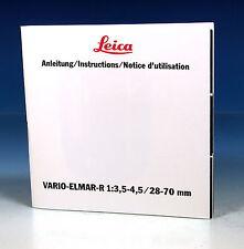 Leica Vario-Elmar-R 13,5-4,528-70mm Gebrauchsanleitung manual  - (90583)