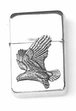 Eagle Flying Emblem Windproof Petrol Lighter FREE ENGRAVING Personalised Gift