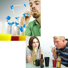 DIY Connectible Drinking Tubes Sucking Straws Toys Gift for Party Game