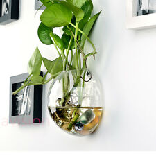 Hanging Glass Plant Planter Flower Vase Terrarium Container Home Wedding Decor