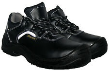 BLACK STEEL TOE CAP SAFETY SHOE WITH ACID AND OIL RESISTANT SOLE SIZE 7/41