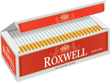 Roxwell Original King Cigarette Filter Tubes Red 50 Cartons (1 Case)