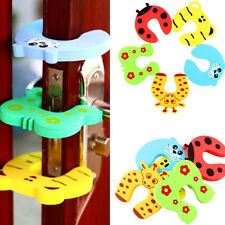 5Pcs Jammer Animal Door Stopper Kid Safety Baby Child Finger Protector Guard Kit