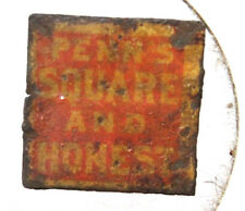 Vintage Penn's Square and Honest Tin Tobacco Tag