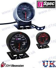 D1 SPEC UNIVERSAL RACING OIL TEMPERATURE GAUGE 60mm BLACK Dial JDM RALLY DRIFT