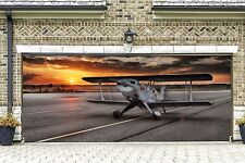 Airplane Garage Door Banners Decoration Plane Helicopter 3d Outside Decor GD86