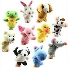 10 Differernt Ainimals/Lot Finger Puppets Good Tool of Telling Story Baby Toys