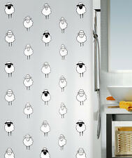 Spirella Sheep Design, Lana Plastic Shower Curtain PEVA Opaque, 180cm x 200 cm