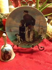 Collectibles Norman Rockwell 'Looking Out To Sea' Plate and Bell set