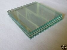 CLEAR GLASS PLATE FOR PAINTING 8.2cm x 8.2cm X 10 PLATES ART