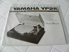 Yamaha YP-211 Owner's Manual  Operating Instructions Istruzioni  New