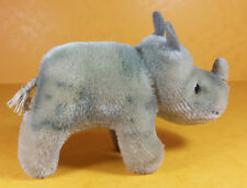 VINTAGE SMALL STEIFF SOFT TOY -  NOSY - THE RHINO - FROM THE 1980s - 15cm