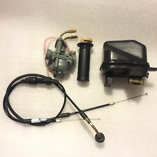 PW50 Carburetor Air Filter Throttle Cable and Throttle Grip for Yamaha PW50 PY50