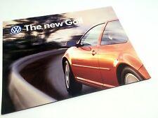 1999 Volkswagen New Golf Poster Brochure