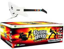XBOX 360 GUITAR HERO World Tour Band Kit Guitar+ Wireless Drums + Microphone