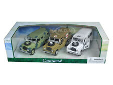 LAND ROVER SERIES III MILITARY SET OF 3 1/43 DIECAST CAR MODELS CARARAMA 35315