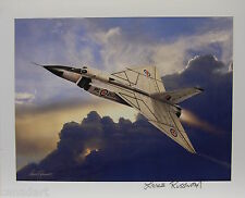 Lance RUSSWURM AVRO ARROW art print Canada airplane Signed Gorgeous