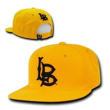 NCAA CSU Cal State University Long Beach Freshmen 6 Panel Snapback Caps Hat Gold