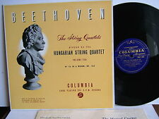 Zoltan Szekely  33CX 1460  Beethoven String Quartets  Columbia UK LP Hungarian