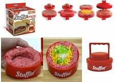 Stuffin Stuffed Burger Press Hamburger Patty Maker Juicy Grill As Seen On TV