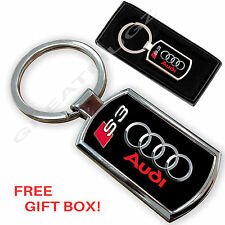AUDI S3 CAR KEYRING KEY CHAIN RING FOB CHROME METAL NEW