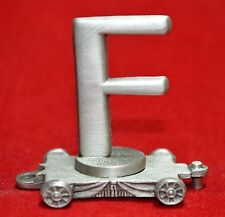 FORT PEWTER - LASTING EXPRESSIONS PEWTER TRAIN CAR LETTER F    (2)