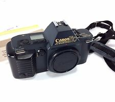 Canon T70 AE Camera Dual Metering System Body Only Cap Tested VTG Papers 1984