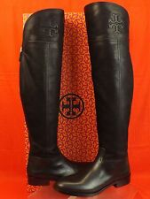 NIB TORY BURCH SIMONE BLACK LEATHER  OVER THE KNEE SPLIT REVA RIDING BOOTS 9.5