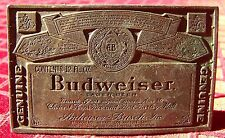 Budweiser Beer Label Belt Buckle