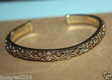 Ross Simons 18k yellow gold/Sterling silver wave Byzantine Cuff Bangle bracelet