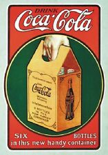 "TARGA VINTAGE ""COCA COLA DRINK"" PUBBLICITA', ADVERTISING,POSTER, ART RETRO PLATE"