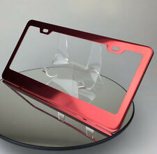 New Powder Coated Candy Red License Plate Stainless Steel Frame Holder Toyota