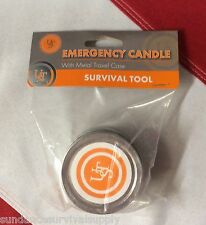 Emergency candle in metal case survival preparadness disaster equip UST GIFT