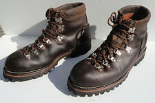 Vintage Prospector Brown Leather Hiking Mountaineering Boots made in Canada 9.5