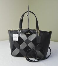 Coach 36580 Black Patchwork Prairie Crossbody Satchel