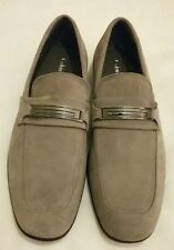 CALVIN KLEIN Vick Suede Slip on Loafers Shoes Grey UK 9 EU 43