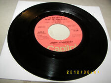 Linda Ronstadt It Doesn't Matter Anymore / When Will I Be Loved 45 VG+ 4050 1974
