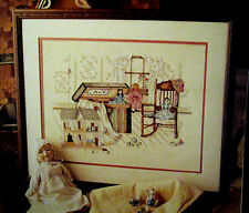 Paula Vaughan Cross Stitch Pattern 631 A Little Girls Fancy Book 15 Doll House