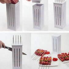 BBQ Grill 16 Holes Skewers Food Slicer Brochette Grill Kebab Maker Box Kit Tool