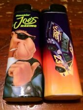 VINTAGE SMOKIN' JOE'S RACING LIGHTER Camel Joe RJR Purple Car Tobacco Yellow