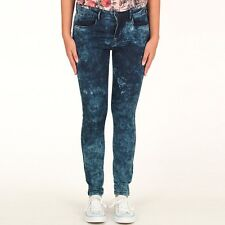 "ONLY WOMENS ACID WASH SKINNY JEANS - BLUE - SIZE 8 - 26"" WAIST, 30"" LEG - BNWT"