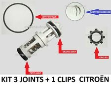KIT 3 JOINTS + CLIPS + NOTICE CLAPET LOSANGE FILTRE GAZOLE C15 205 405 406 605